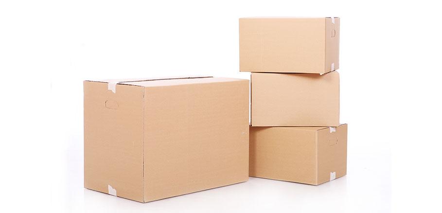 Στοίβα με χάρτινα κουτιά σε λευκό φόντο. Βασική κρυψώνα για ασημόψαρα στο σπίτι